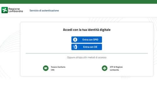 Fascicolo sanitario elettronico Lombardia